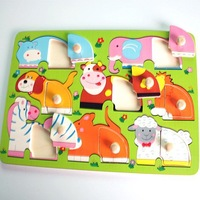 free shipping Vivid pretty funny colorful animals jigsaw puzzle  #2011