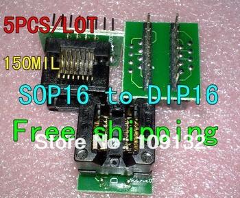 SOP16 TO DIP16 SOP16 turn DIP16 SOIC16 to DIP16 IC socket Programmer adapter Socket good Quality NEW