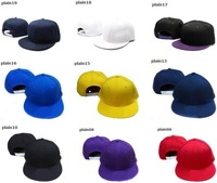wholesale Plain snapback caps blank hat snap back hats Baseball Cap for men and women free shipping mix order blue red yellow