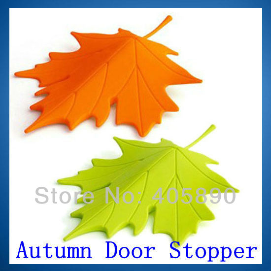 Autumn Door Stopper Maple Leaf Decorative Stopper, Not Let The Door Closed(China (Mainland))