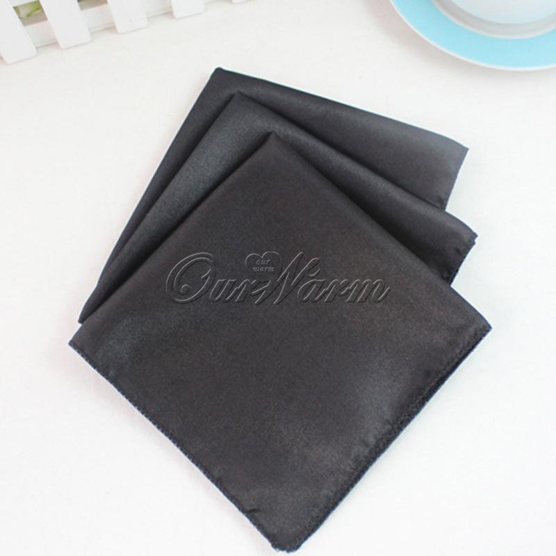 Achetez en gros serviettes en tissu noir en ligne des for Serviette de table noir