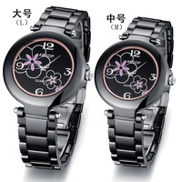 Hot selling  fashion  Ladies' watch Mechanical  movement waterproof  Ceramic round dial  free shipping 9919