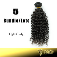 Free Shipping 12''~28'' 5Bundle/Lots Tight Curly  Queen Hair Malaysian Virgin Hair Cuticle Aligned Human Hair