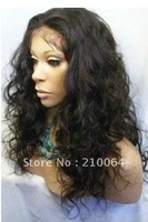 "Fashion16""-22"" curl 100% brazilian virgin hair full lace wigs baby hair free shipping"