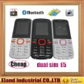 E5 dual sim cell phone cheap price with bluetooth FM Flashlight camera