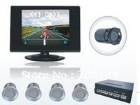 Free Shipping 4 Parking Sensors LCD Car Backup Reverse Radar Kit