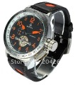 Free Shipping ,New Orkina Russian Diver XXL Military U boat Style Automatic Mechanical mens leather watch Best Gift