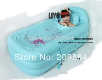 120*90*50CM SPA pvc Folding Portable Bathtub Inflatable freestanding Bath Tub With Cover Pink or blue color bath tub