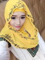 A001  Fashion hot sale not include ninja underscarf SITI embroidery  muslim hijab