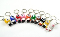 Pool  key chains , lucky key rings, christmas presents,billard accessories,promotional key rings