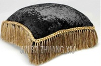 319# 2013 hot sale top grade velvet with tassel around cushion cover  pillow case wholesale min 2pcs