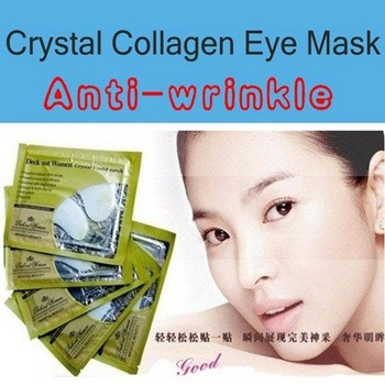 50 pairs/lot Deck Out Women Crystal Eyelid Patch / Crystal Collagen Eye Mask / Anti-wrinkle Free shipping