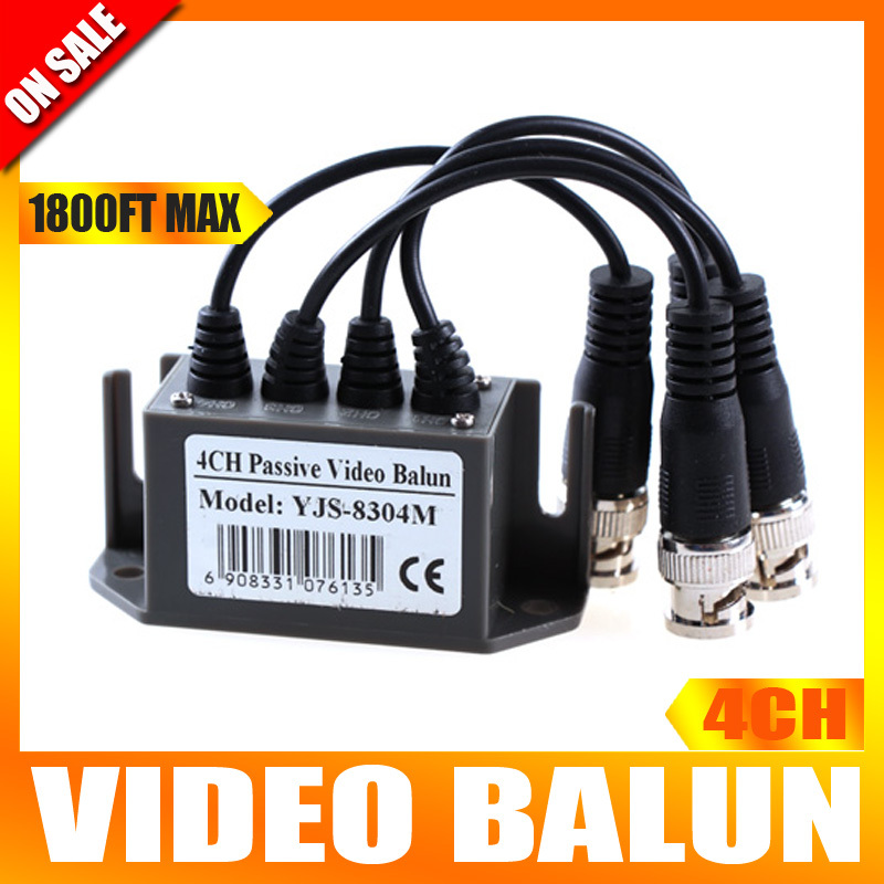 4 Channel CAT5 CCTV BNC Video Balun UTP Transceiver Cable 600 Meter Distance For CCTV System(China (Mainland))
