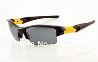 Brand New Sports Sunglass Men's/Women's Fashion Flak Jacket Black Sports Sunglass Changeable Lens Black Logo Box