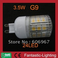 dimmable G9 LED Bulb SMD5050 G9 lamp 24leds 3.5W 220-240VAC with stripe cover