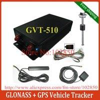 2012 New Glonass+GPS Vehicle tracker GVT-510,1200mAh rechargable Internal backup battery,32M BIT flash memory,Free shipping