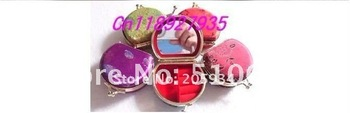 Free shipping! Lots 20pcs homemade Embroidery Brocade Mirror / Makeup mirror