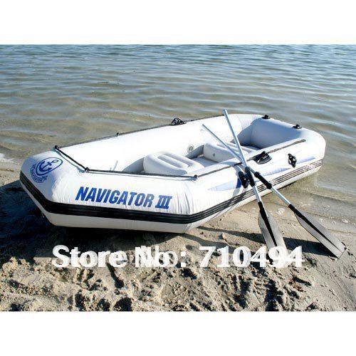 free DHL shipping JiLong Navigator III 3 persons inflatable air boat, fishing boat with paddle & pump & cushion(China (Mainland))