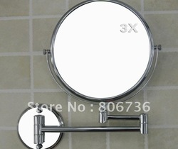 Bathroom mirror wall mounted Make up Mirror bath mirror brass MG-3004 free shipping(China (Mainland))
