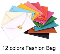 Women PU Envelope Clutch Chain Purse Faux Leather Hand Bags Shoulder Tote Bag 12colors messenger bag