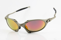 Designer Sunglass Men's/Women's Brand Name Romeo 1.0 Metal Eyewear Silver Frame Fire Iridium Lens Polarized