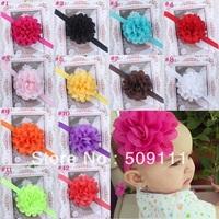 Baby Flower Headband Infant toddler Girls Flower Hair Bow Infant Girl Headbands 12 color Headband Babies 10pcs HB134