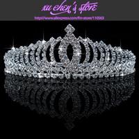 FREE SHIPPING WAVE SHAPE rhinestone bridal crown tiara wedding crown wedding hair jewelry