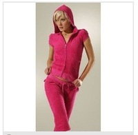 free shipping women's summer tracksuits,fashion velour suit hoody+pants