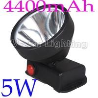 HOT SALES!!  Super Brightness LED 5W 4400mAh Headlamp for Mining Hiking Camping Fishing