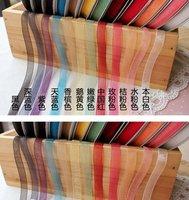 """1/4""""(6mm) Sheer Ribbon Packing Satin Ribbon 1 lot/color Free Shipping"""
