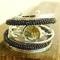 Jewelry Bangle bracelet wrist fashion Pink Black Quartz watch Women's Dress watch Ladies Xmas Gift Free Ship