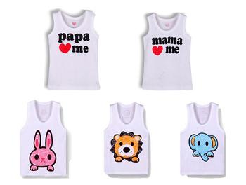 4 pcs /lot cotton baby t shirt child t-shirt children clothes infant t shirts boys girls summer wear kids Tees baby vest
