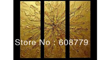 Golden Art Handmade Famous Artist Oil Painting On Sale