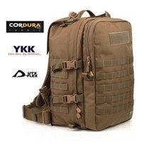 Rogisi Medical Bag Saco Model:10R20 Cordura Military Camping Medical Tool Bag Backpack  Black/Wolf Brown 30*25*46CM 1.88KG