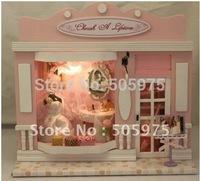wedding gift doll's house,wooden light house model,dollhouse miniature.european miniature shop