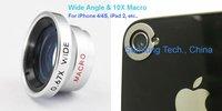 0.67X Wide Angle & 10X Zoom Macro Lens W67 for APPLE iPhone 4 4S & iPad
