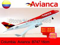 Free Shipping!Colombian Air AVIANCA 747 diecast airplane models 16CM,aircraft model aeroplane model model plane kit