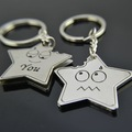 40  pieces / lot   free shipping  New Arrival Cute Cartoon Star Figurine Metal Keychain Fashion Key