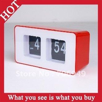Free Shipping 4pcs Creative Table Automatic Flip Clock Retro File Down Page Clock -- CLK04 Wholesale