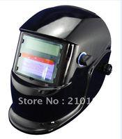 Black helmet Li Battery+Solar auto darkening welding filter/face mask for welding equipment and LGK cutting tool