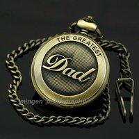 MINGEN SHOP - Dad Day's gift Roman numerals necklace Pocket watch quartz watch White S192-1 watch wholesale