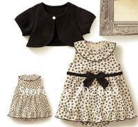 girl Clothing set Baby Romper Dress,Baby coat+dress blouse+dress  Size:80 90 100