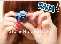 Free shipping,Retail pack flash camera Telephoto lens key chain,LED key ring light,subminiature pendant as phone bag pendant!