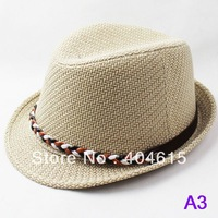 wholesale adult summer popular jazz cap women and men fashion fedora hats