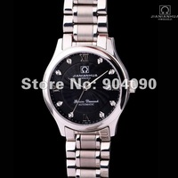 2014 Business Men watches christmas gifts top quality Luxury brand stainless steel strap black dial mechanical watch 825YM