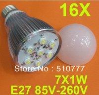 7W LED Bulb E27base,AC85V-265V(dimmable available)