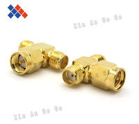 "Wholesale SMA adapter SMA male  to Reverse female  to Reverse female ""T"" Type connector adapter Free shipping"