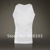 2PCS/Pack, Men's  Body Shaping Undergarment Elimination of Male Beer Belly White / Black (OPP bag)