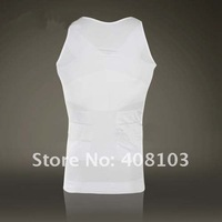 2PCS/Pack, Men's  Body Shaping Undergarment Elimination of Male Beer Belly White / Black (OPP bag)