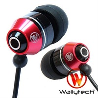 Wallytech New Metal Earphones For iPod MP3 MP4 earphone for iPad headphones 3.5mm jack 100pc/lot Free Shipping by DHL (WEA-106)